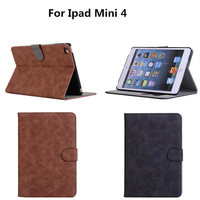 Skin For Apple Ipad Mini 4 Business Tablet Cover Case Luxury PU Leather Protective Card Holder