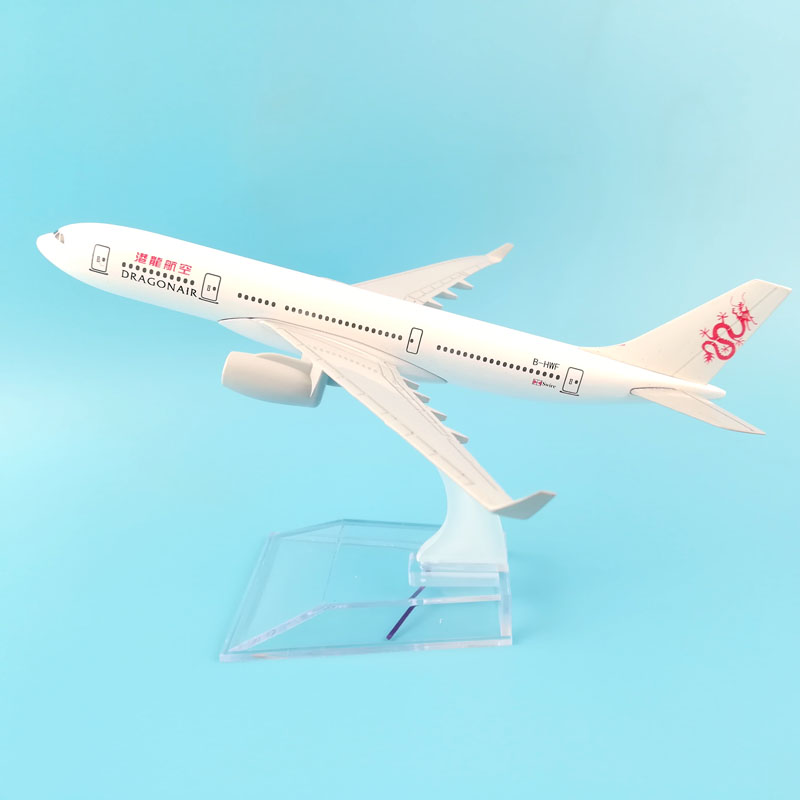 16CM DRAGON AIR METAL ALLOY MODEL PLANE AIRCRAFT MODEL TOYS AIRPLANE ORNAMENT GIFT CHILDREN TOYS image