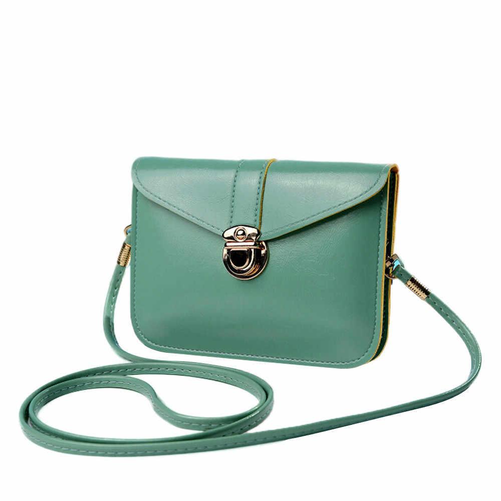Femmes sacs à main en cuir Mini carte pièce téléphone portable sacs mode petit changement sac à main femme boucle PU épaule bandoulière Bag2.9