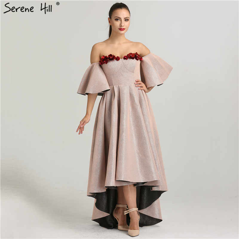 שרוולים סקסיים אופנה ערב שמלות 2020 אגלי פרחים סימטרי ערב שמלות Serene היל QA8009