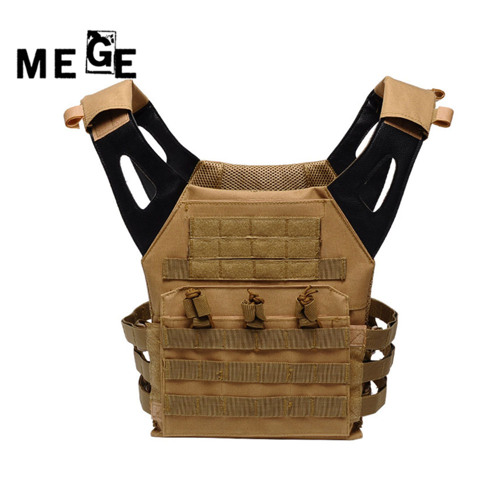 MEGE Men's Tactical Military Hunting Airsoft Paintball Vest Outdoor Field Multifunctional Protection Lightweight Army Equipment