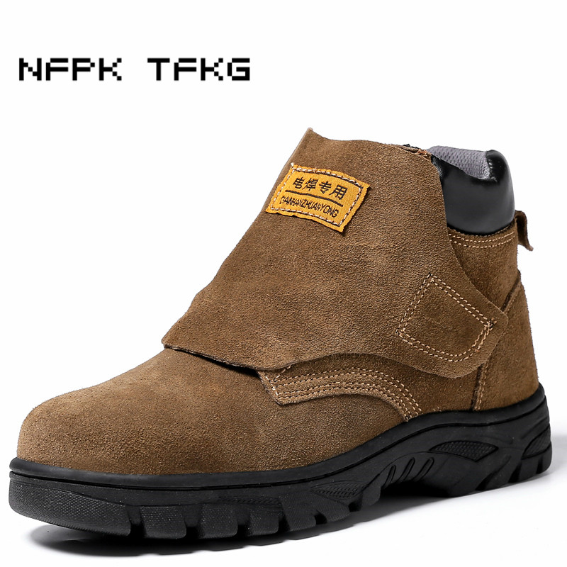 large size mens casual steel toe caps work safety shoes anti-pierce platform cow suede leather tooling security ankle boots male цены онлайн