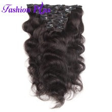 Fashion Plus Brazilian Remy Body Wave Hair Extension 18 Clip Ins Full Head Set 7pcs 120g Clip In Hair Extensions Human Hair