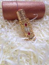 Золотой рубин полый металлический флакон духов бутылка с эфирным маслом