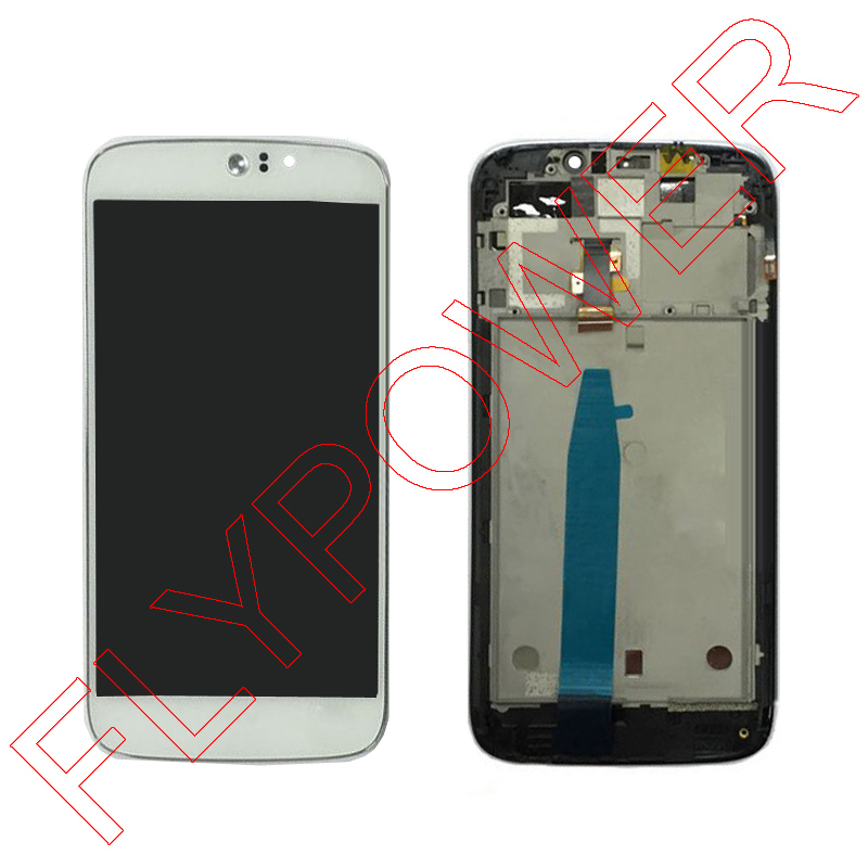 for Acer Liquid Jade Z s57 Lcd Display With White Touch Screen digitizer + Frame assembly by free shipping; 100% warranty wholesale price for acer liquid jade s55 lcd display digitizer touch screen for acer liquid jade lcd free shipping