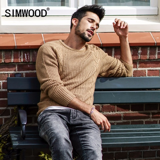 Men Slim Fit Knitted Pullovers Casual  Sweater 5