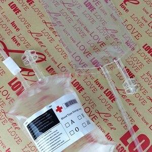 200 шт/партия 380 мл Хэллоуин реквизит контейнер для кровяного напитка питьевой мешок, фруктовый сок крови питьевой мешок для напитков бесплат...