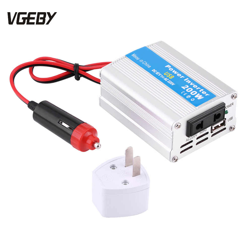 New Car Inverter DC 12V to AC 220V 200W Car Power Inverter Converter Modified Sine Wave Power with USB Car Charger
