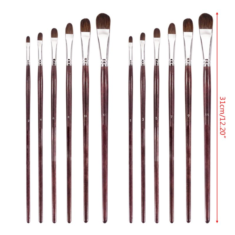 Us 8 34 17 Off Purple Printed Round Head Pen Paint Brush Sets Wolf Hair Best Brush For Canvas Painting Acrylic Paint Oil Paint Top Quality Art In