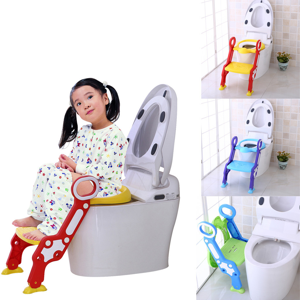 Portable Toilet Trainer Seat Baby Girls Boys Potty Trainer Seat Step Stool Ladder Adjustable Training Chair Kids Toilet Training