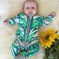 Nuevo Diseño De Bambú Del Bebé Mamelucos del Patrón de Manga Larga Causal Otoño Primavera Outwear la Ropa 2016 Venta Caliente Del Muchacho Del Bebé Ropa
