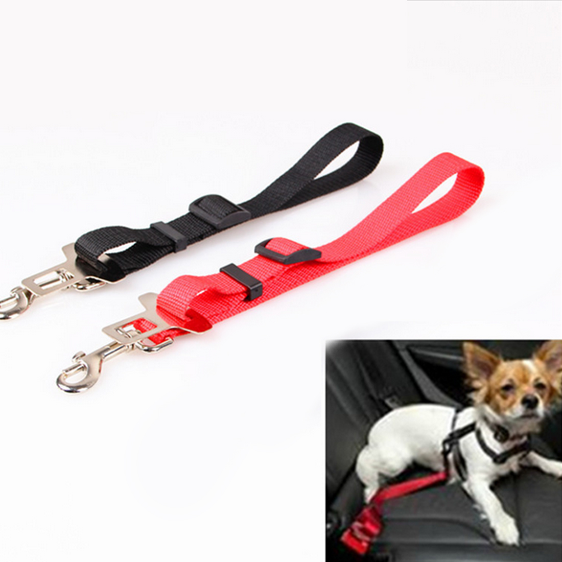 High Quality Best Sell Safe Leash for dogs Vehicle Car Seat Belt Seatbelt Harness Lead Clip 1Pc Pet Supplies