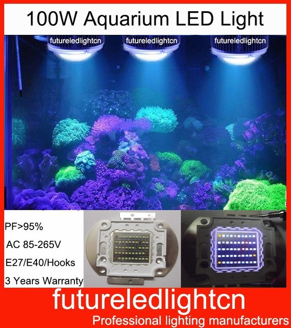 1pcs dhl free shipping New Coral Reef Bridgelux 100w LED Aquarium lighting Fish Tank LED Lights