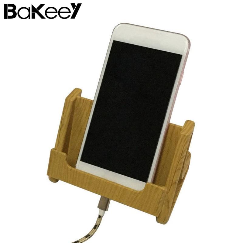 Bakeey Wooden Charging Anti-slip Pen Stand Station Desktop Phone Holder For Mobile Phone Desk Cell Phone Charge Dock Holder mobile phone