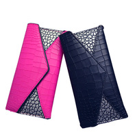 1PU stylish new personality texture ladies long wallet leisure multi card three fold wallet