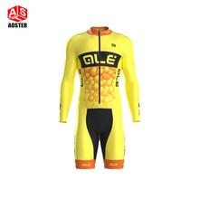 Фотография Men Ale Sportswear long Sleeve skinsuit Cycling Bike Jersey Bicycling Shirt Bicycle Cycle Clothing MTB Ropa Ciclismo Bicicleta
