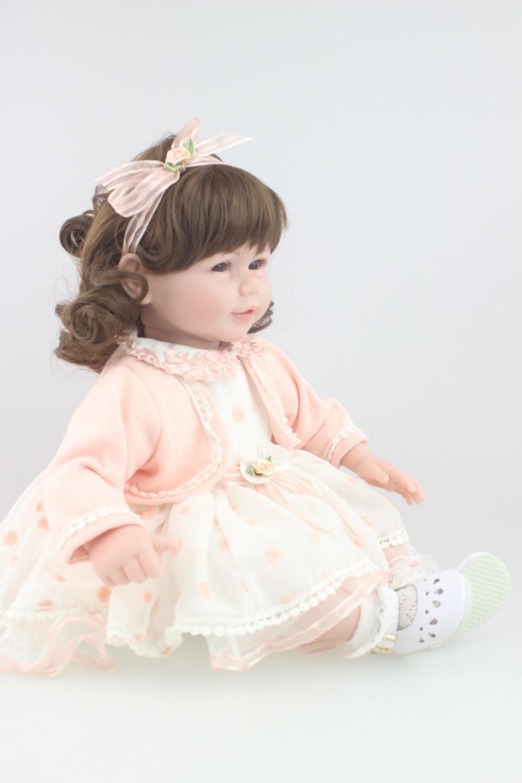 reborn toddler girl doll 50cm , 20inch sweet cute baby doll birthday