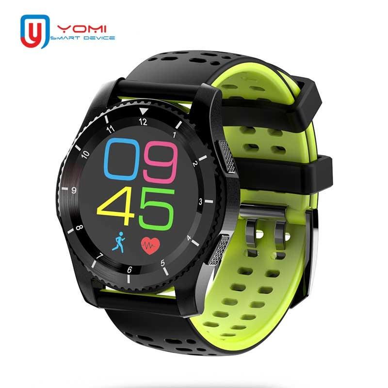 Montre Smart Watch Hommes Bluetooth 4.0 GPS Smartwatch Soutien SIM TF Carte Moniteur de Fréquence Cardiaque Sport Montre Intelligente Andorid IOS pour adulte