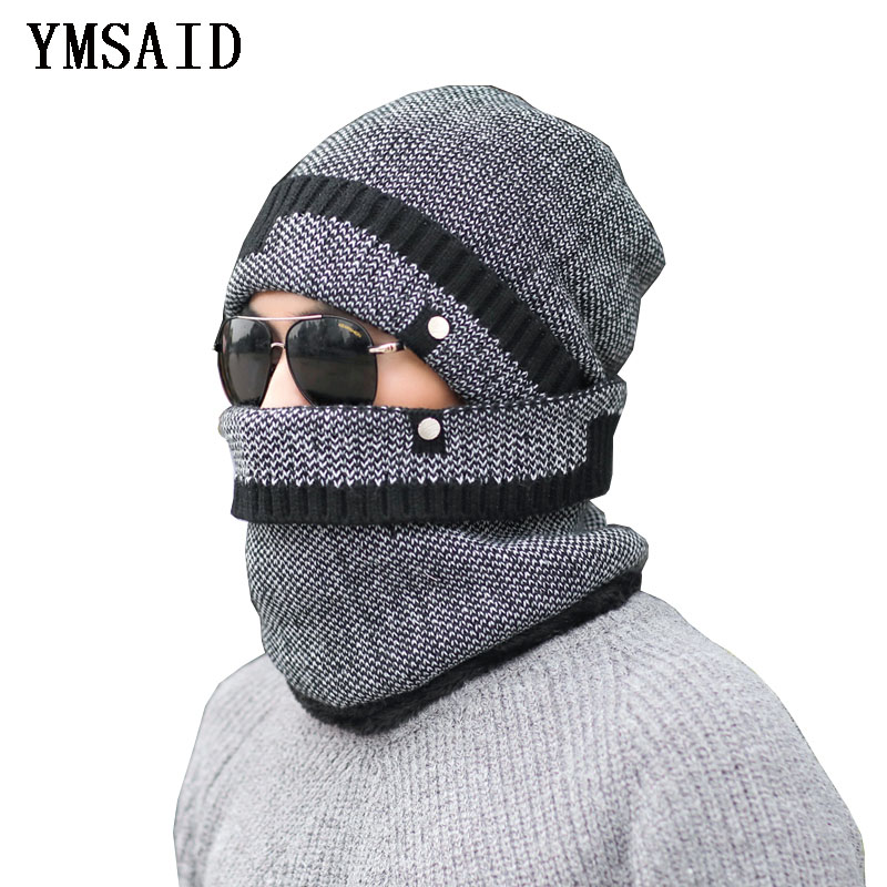 Ymsaid Winter Hat   Skullies     Beanies   Hats For Men Women Wool Scarf Hats Balaclava Mask Gorras Bonnet Knitted Hat