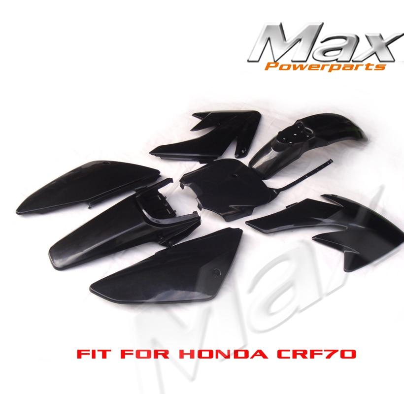 Черный CRF70 Пластиковые крышки пластиковый обтекатель комплекты Пит венам давлени Xmotos велосипед велосипед Баха DR50 49 50куб 70 90 110 новых ПП