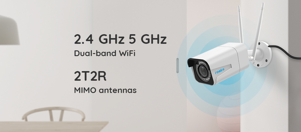 Reolink Security Camera 5MP Bullet WiFi IP Camera 2.4G/5G HD 4x Optical Zoom Built-in SD Card Slot Night vision RLC-511W