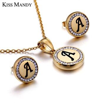 6b068cee2f65 Beso MANDY de acero inoxidable de Color oro alfabeto nombre colgante collar  de cadena personalizada joyería de las mujeres accesorios ZM6