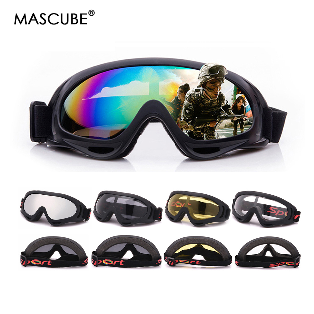 MASCUBE Skiing Eyewear Glass Goggles 5 Colors Snowboard Goggles Men Women Snow Glasses Ski Googles Skate Ski Sunglasses Eyewear
