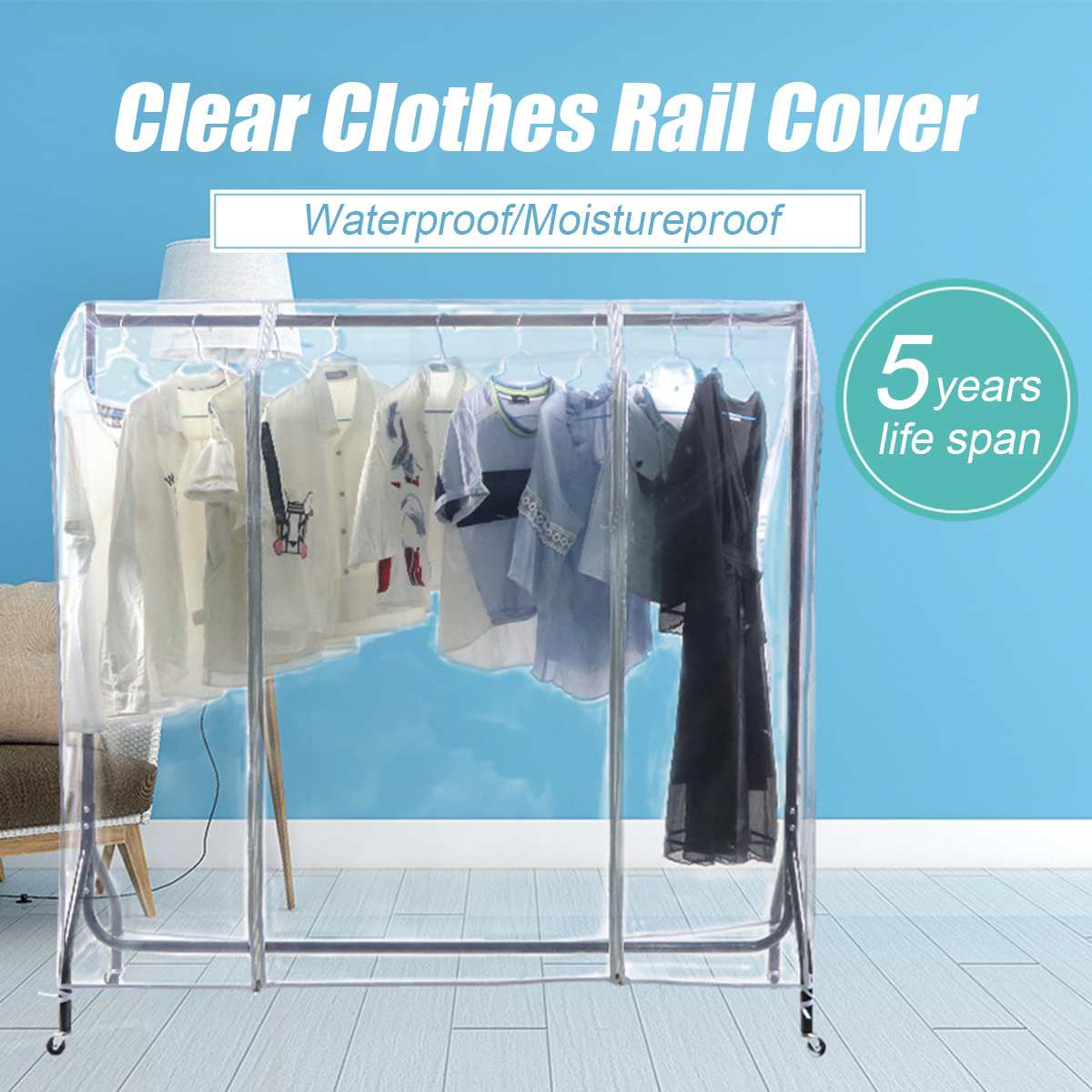 1.8/1.5/1.2/0.9M Clothing Rail Cover Coat Garment Suit Dress Bags Household Clothes Dustproof Hanging Storage Protector Dust Bag