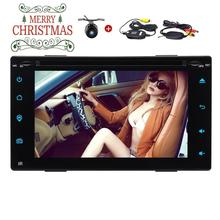Wireless Back Camera+2 din Android Car Stereo Bluetooth Autoradio Support DVD CD Player USB /SD WIFI 4G Radio FM/AM RDS Receiver