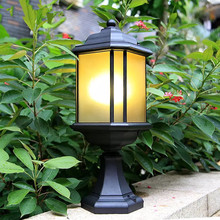 HAWBOIRRY Modern LED European Outdoor Garden Villa Community Corridor Light Simple Waterproof Antirust Pillar Lamp