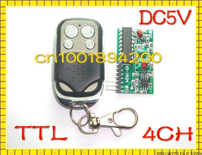 4CH DC5V RF передатчик и приемник модуль Беспроводной дистанционного Управление модуль Системы M4/L4 ttl двухпозиционный уровень кодирования реле драйвер