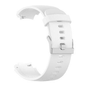 Image 5 - סיליקון רצועת השעון רצועת עבור Huami 3 Smartwatch amazfit סף (A1801) החלפת 10 צבעים להקת יד צמיד רצועות