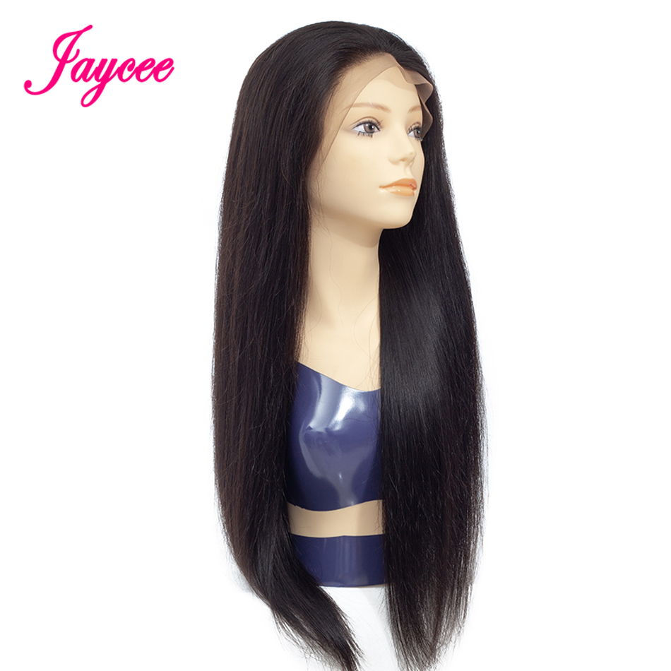 Jaycee Hair Straight Lace Front Human Hair Wigs Free Part Brazilian Remy Hair Wig 8-24Pre Plucked Natural Hairline ...