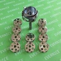 Большой прибор для обрезки нитей поворотный крюк + 10 бобины для JUKI LU 1510N 7 1560N 7 держатель прижимной лапки