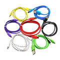 hot sale weave type V8 micro usb cable for most android smart phones colorful V8 braids micro usb data cable charging cable