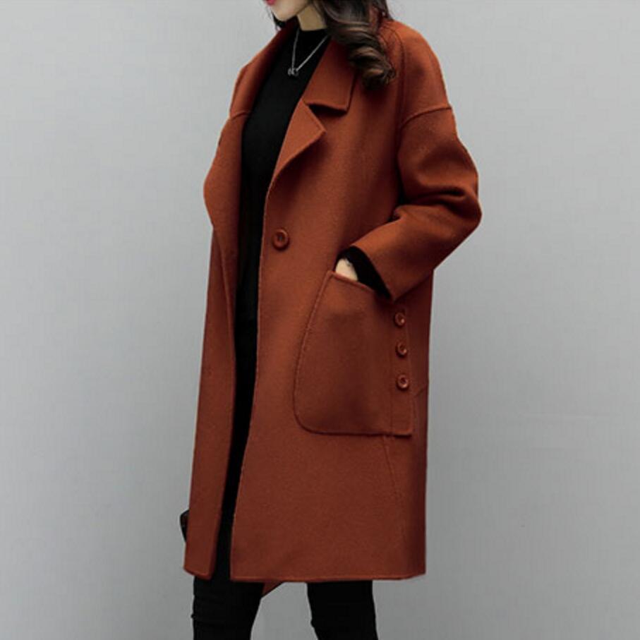 2018 offre spéciale femme laine manteau haute qualité hiver veste femmes lâche laine Long cachemire manteaux Cardigan vestes élégant mélange