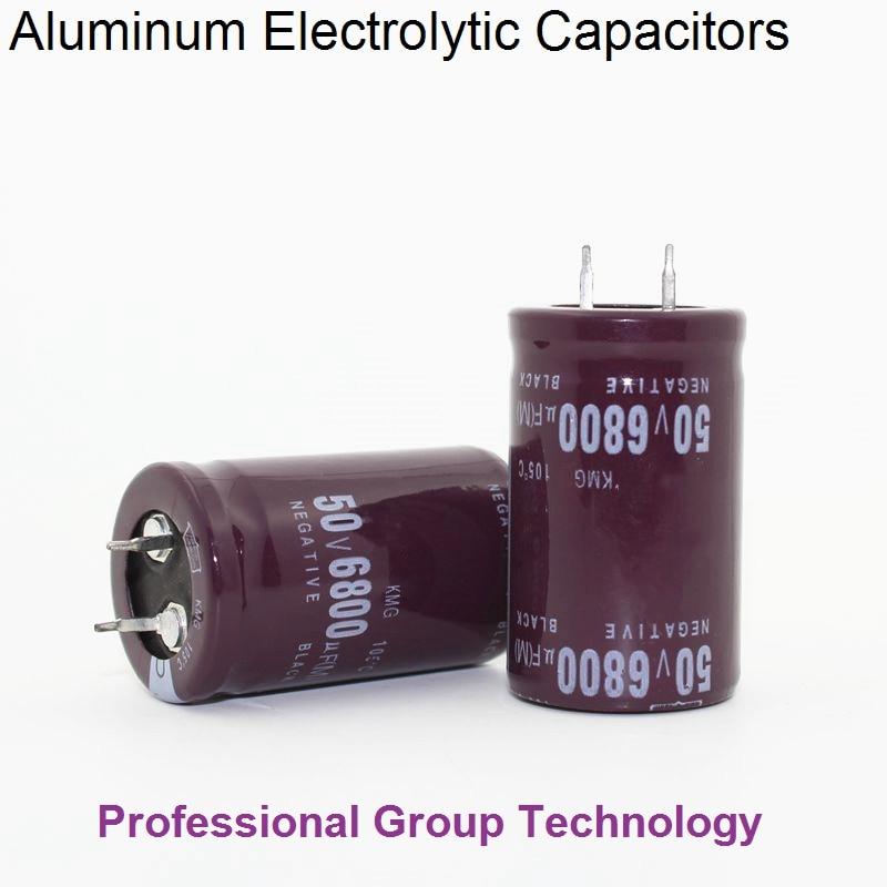 5pcs R99 Good Quality 50v6800uf Radial DIP Aluminum Electrolytic Capacitors 50v 6800uf Tolerance 20% Size 25x40MM 20%