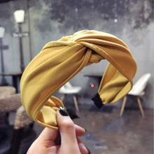 9 Colors Fashion Womens Hair Accessories Solid Hairband All-inclusive Band High Quality DIY Turban Headwear Wholesale