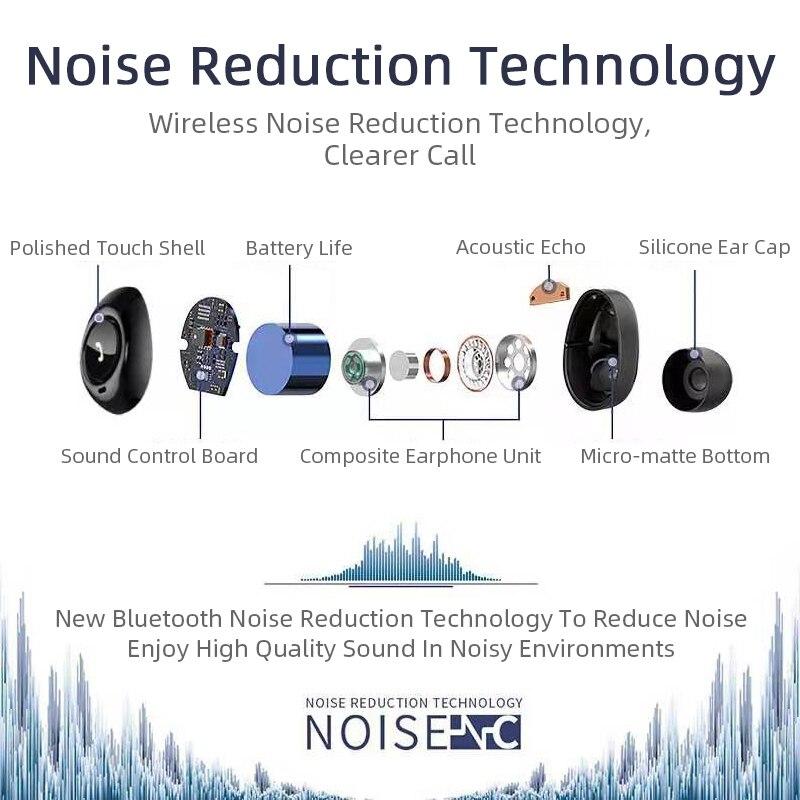 Capsule TWS Wireless Earbuds V5.0 Bluetooth Earphone With Deep Bass 7