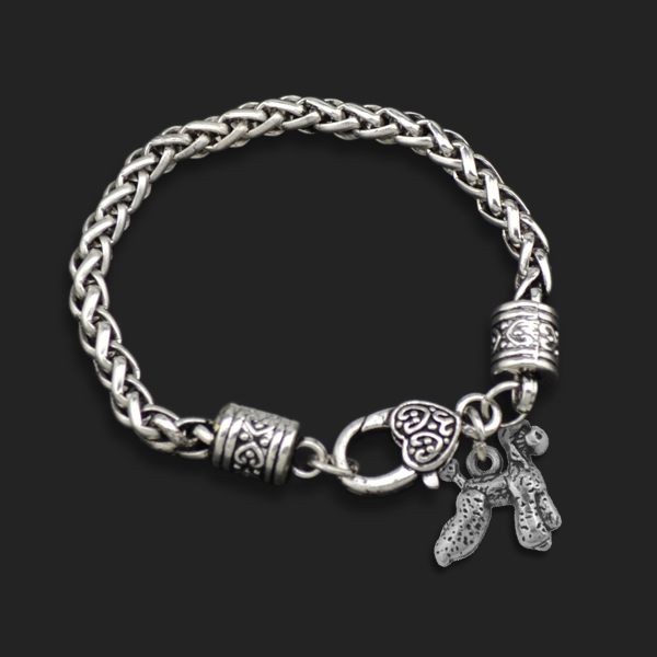Teamer Brand New Dsign10pcs A Lot Zinc Alloy Metal Poodle Pet Dog Animal Charm Bracelets