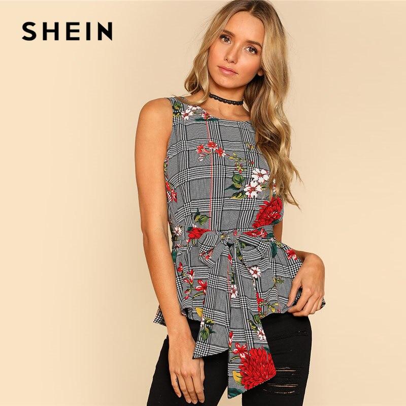 Blouse ceinturée en mode florale pour l& ...