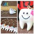 12 Unids Simulación diente colgante llavero pequeños regalos regalos promocionales Dentales Hospitales/Clínicas