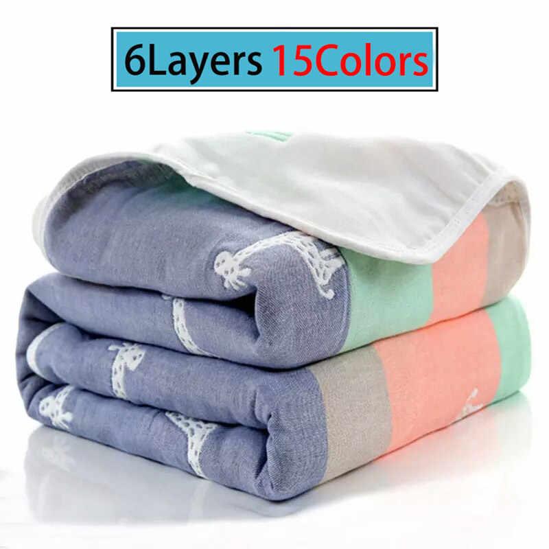 Mantas de bebé muselina de algodón 6 capas recién nacido envolver otoño bebé urdimbre envolver mantas ropa de cama infantil manta de recepción
