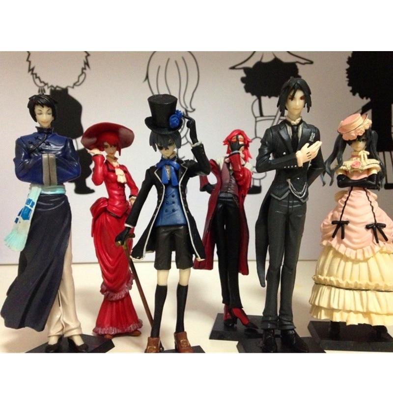 Action Figure Kuroshitsuji The British Aristocracy Ciel Phantomhive Devil Deacon Black Butler Kuroshitsuji Model Doll S294