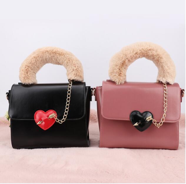 Fashion Lady Shoulder Crossbody Bag Sweety Love Heart Arrow Pattern Women Messenger Bag Pu Leather Flap Clutch недорго, оригинальная цена