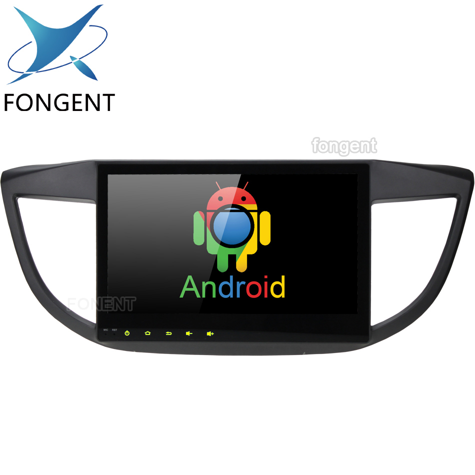 Android Video <font><b>Multimedia</b></font> player For <font><b>Honda</b></font> <font><b>CRV</b></font> <font><b>2012</b></font> 2013 2014 2015 2016 Octa Core 10.2 inch IPS Screen DVD Radio GPS Navigation image