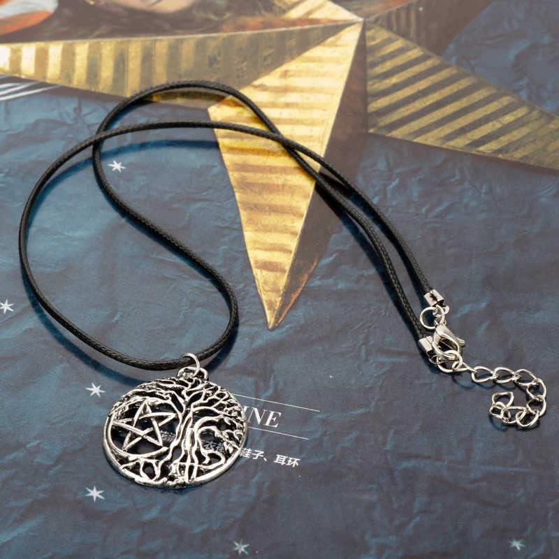 HANCHANG Boom van Leven Kettingen Hangers Vintage Accessoires Sieraden Choker Touw Ketting voor Vrouwen Mannen Sieraden collares
