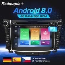 Android 8,0 автомобильный Dvd стерео радио GPS; Мультимедийный проигрыватель для hyundai i30 Elantra GT 2012 2013 2014 2015 2016 Авто аудио навигации
