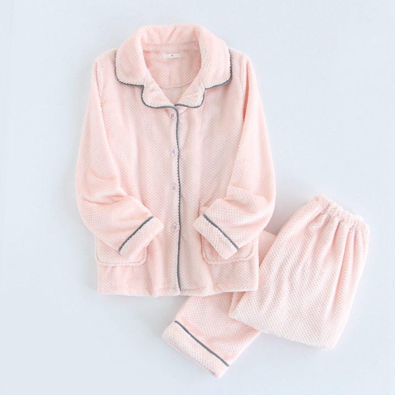 Winter Plus Size Pijamas Ladies Casual Pajama Sets Women -4801