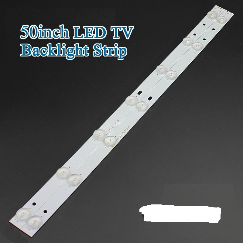 2pcs X 50 Inch Aluminum Plate Led Strips W/ Optical Lens Fliter Tv Panel Backlight Lamps Length 481mm 7pcs Led Free Shipping Computer & Office